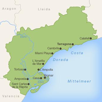 Tarragona (Provinz)-Karte