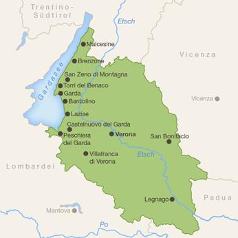 Verona (Provinz)-Karte