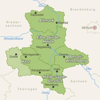 Sachsen-Anhalt-Karte
