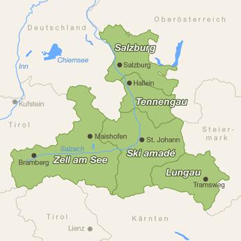 Salzburger Land-Karte