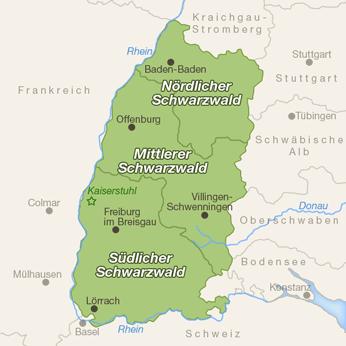 Schwarzwald-Karte