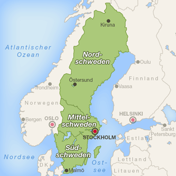 Schweden-Karte