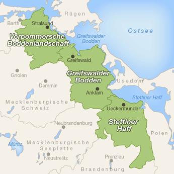 Vorpommern-Karte