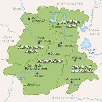 Zugspitzregion-Karte