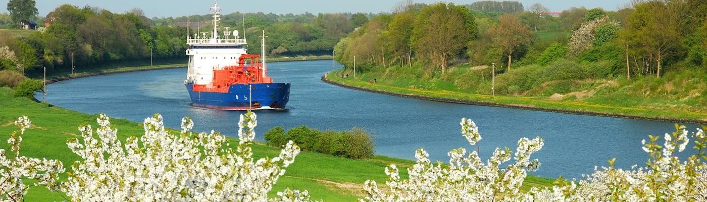 breiholz nord ostsee kanal schiff