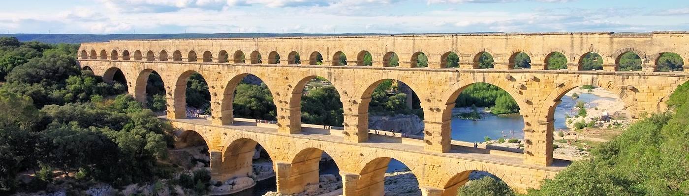 gard viadukt fluss languedoc roussillon
