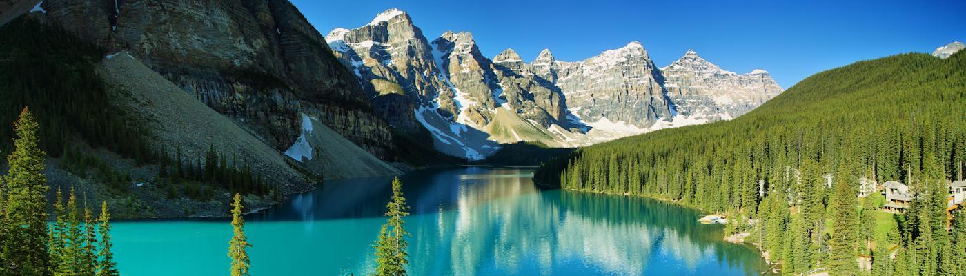 kanada berge see wald ferienhaus