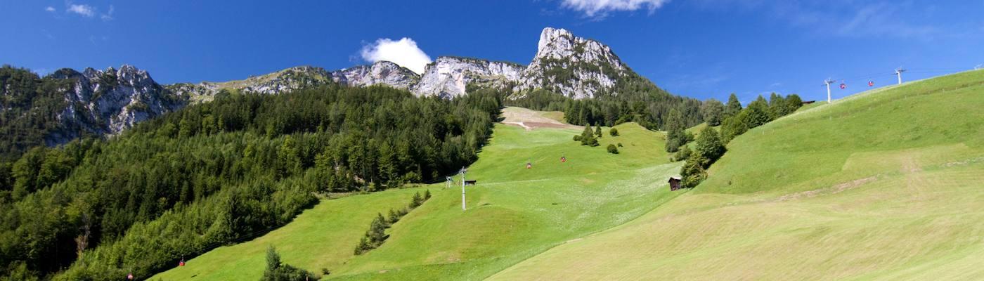 lofer berg wiese seilbahn alpen