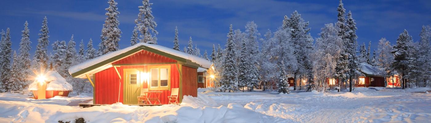 nordschweden ferienhaus schnee