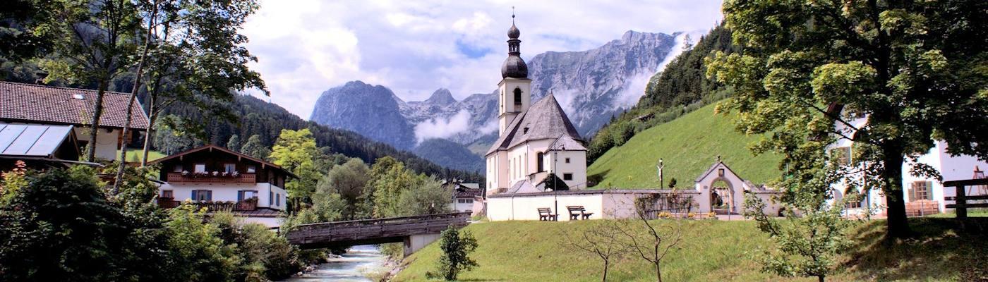 ramsau kirche berge bayern