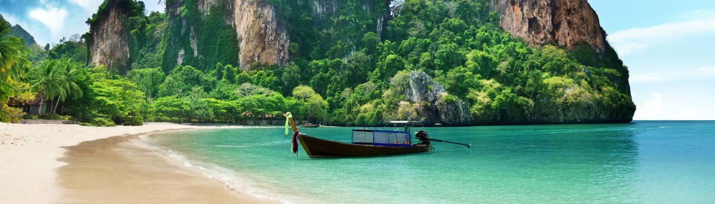 thailand bucht strand berge
