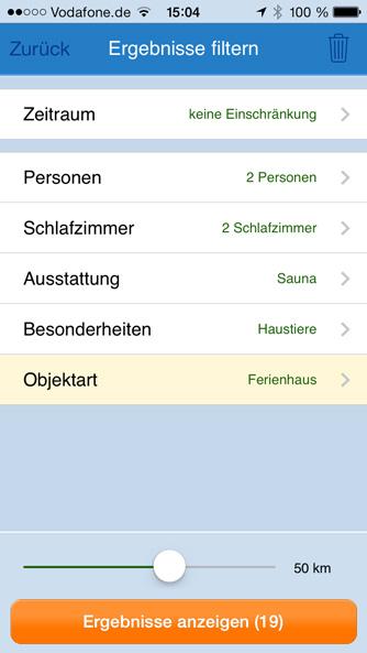 iPhone App Filter