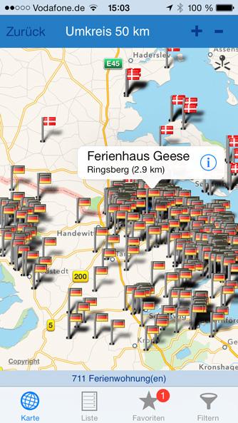 iPhone App Karte