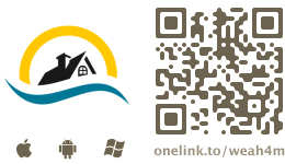 App Icon + QR-Code 'onelink.to/weah4m'