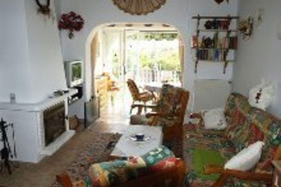 Blick in den Wohnzimmerbereich