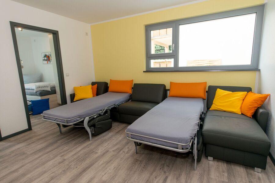 zusätzliche, bequeme Sofa-Betten