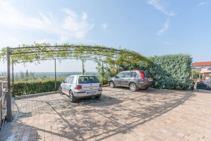 Parkplatz auf dem Hausgrundstück