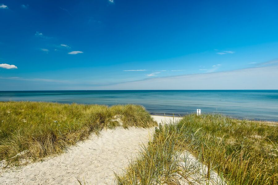Strandaufgang in 300 Meter Entfernung