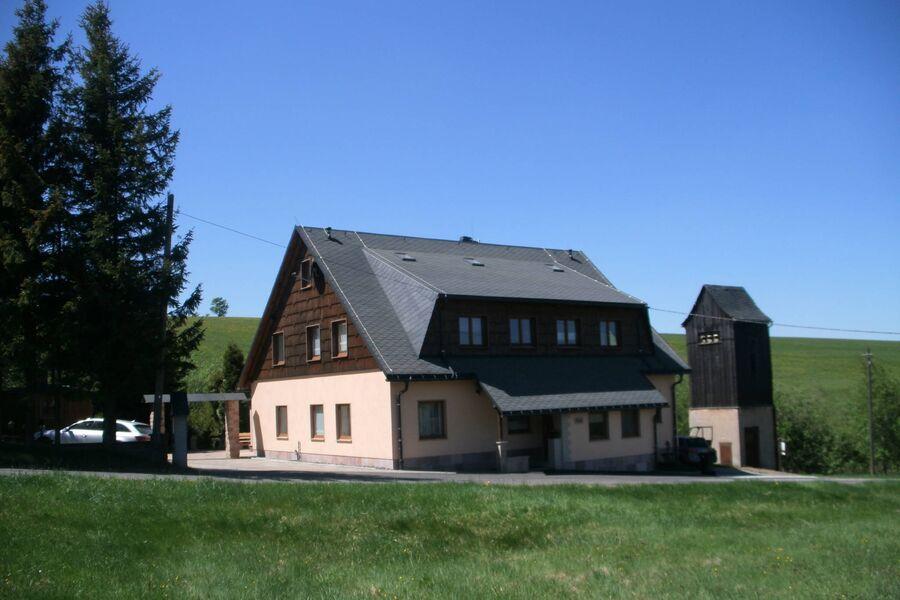 """Ferienhaus """"Bergblick"""" im Sommer"""
