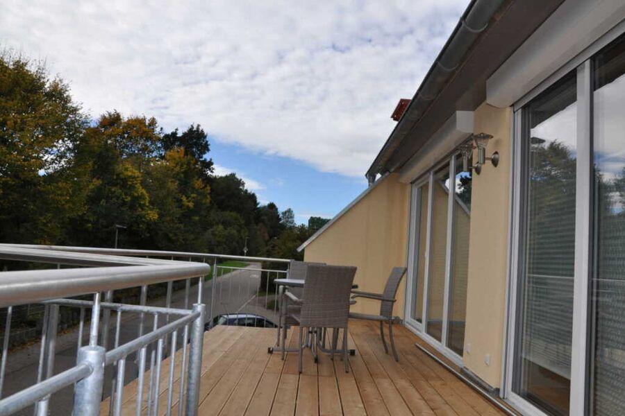 Terrasse der Ferienwohnungen Vollert