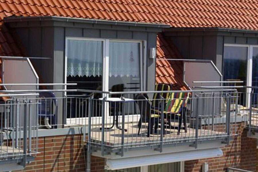 Einer der Balkons: überall tolle Aussichten
