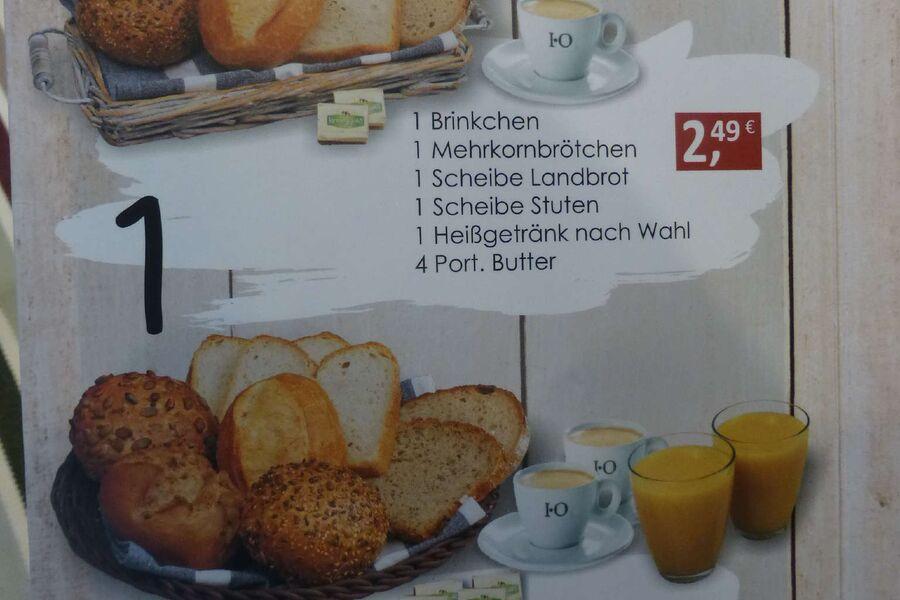 Einblick in die Frhstückskarte > 700m