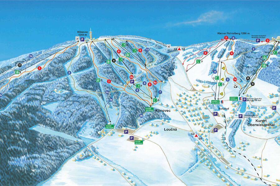 Skigebiete in unmittelbarer Nähe
