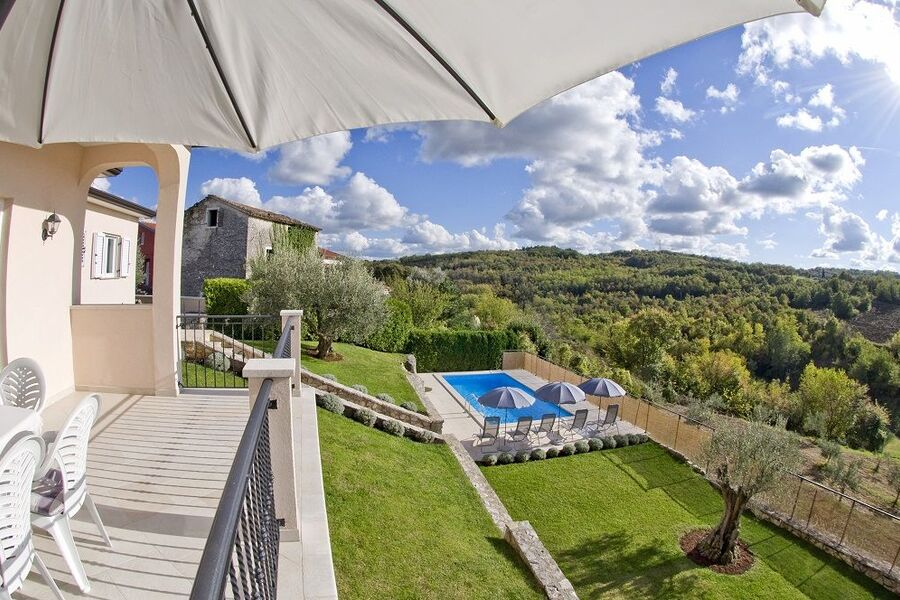 """Villa Tatjana"", Blick von der Terrasse"