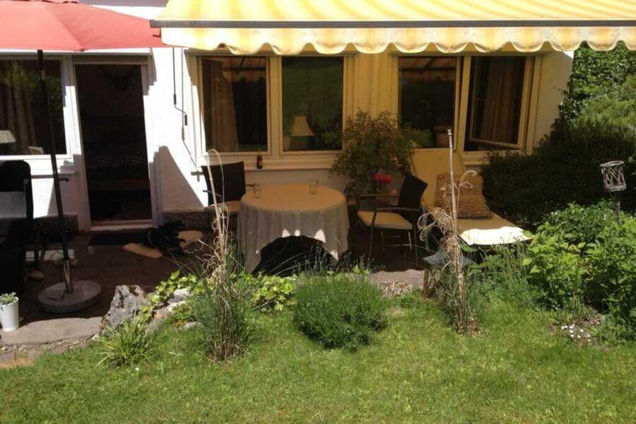 Terrasse der Fewo Nr. 1, Anlage Dr. Gaertner