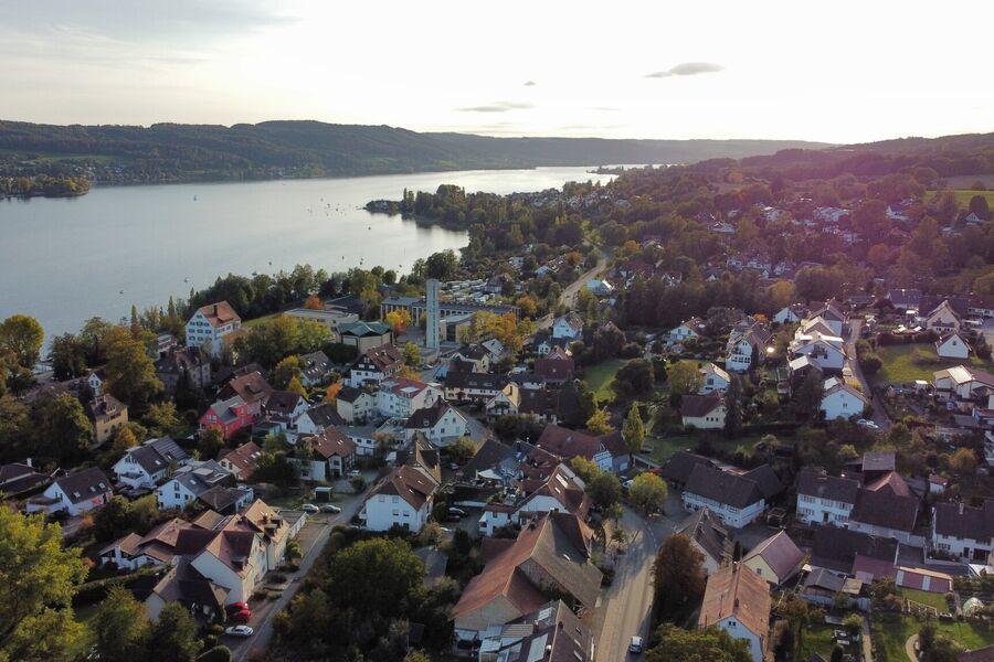 Blick auf den Untersee und die Schweiz