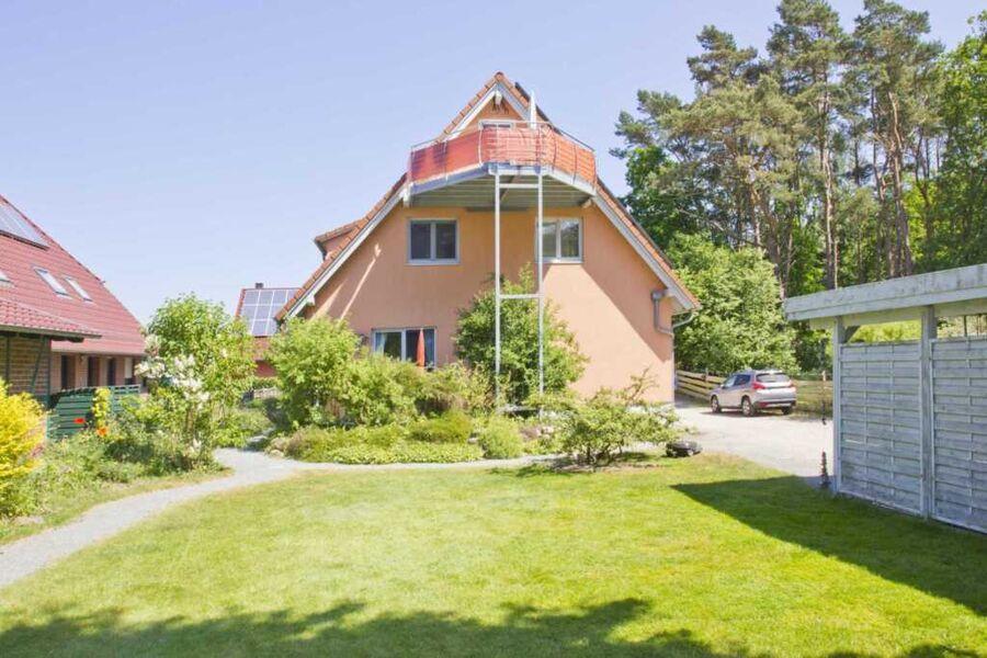 Außenansicht des Hauses Ferienwohnung am Wald in G
