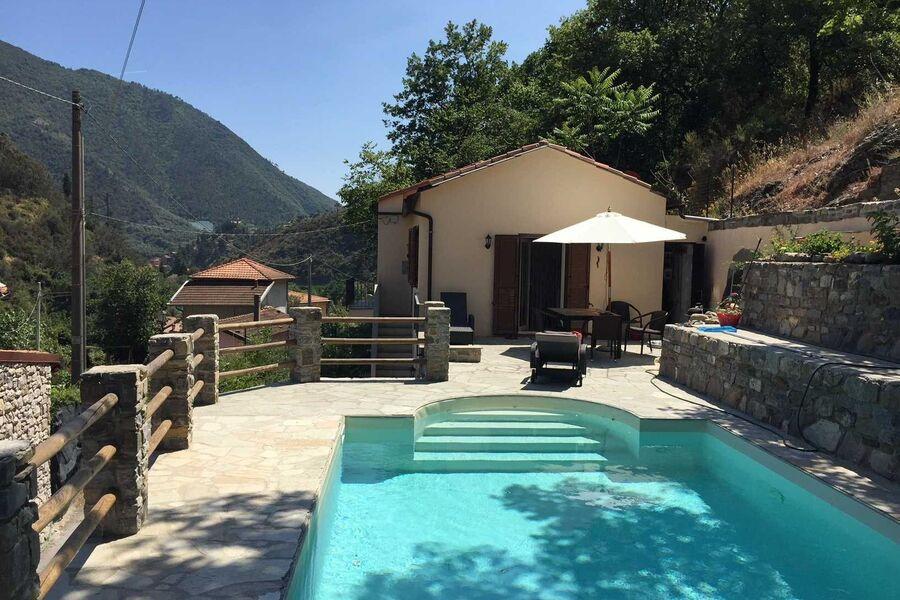 Terrasse und Pool (4x8m)