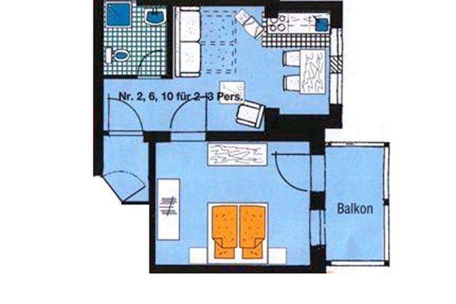 Haus Felicitas F653  WG 6 im 2. Obergeschoss mit B