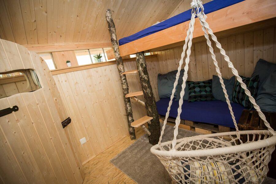 zweites Schlafzimmer über der Sauna