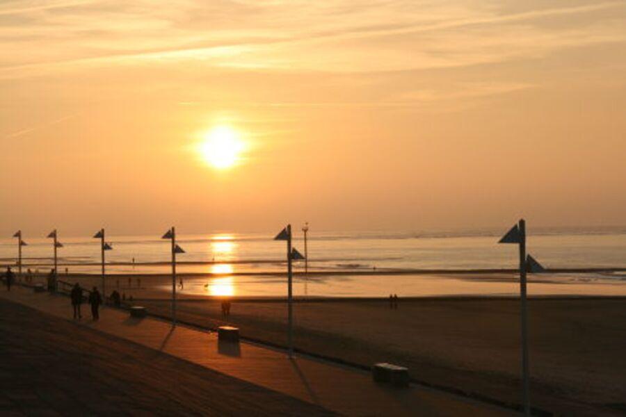 Der Sonnenuntergang auf Norderney