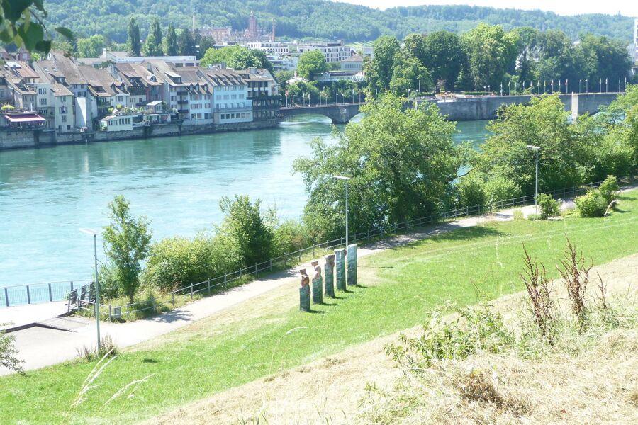 Der Park mit Blick auf die Altstadt