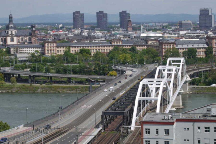 Ludwigshafen City. einen gigantischen Blick auf di