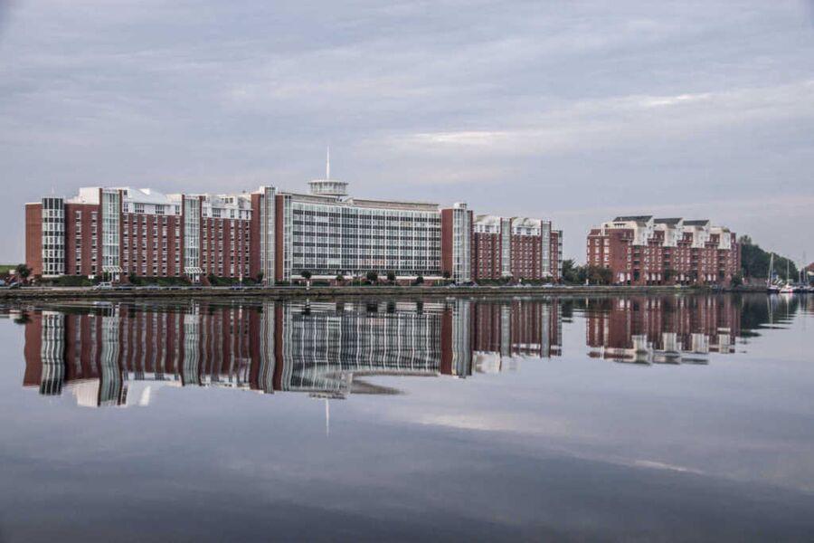 Helgolandhaus - Ansicht vom Hafen