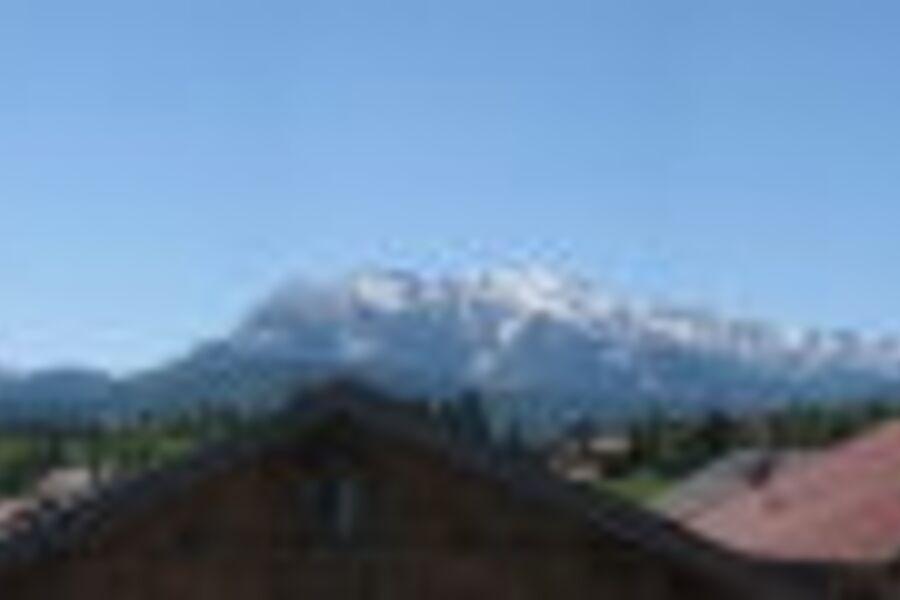 Blick vom Südbalkon ins Wetterstein