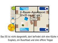 Kuhnle-Tours Minimarina Mirow, 2 Raum Appartement mit Balkon in Mirow OT Granzow - kleines Detailbild