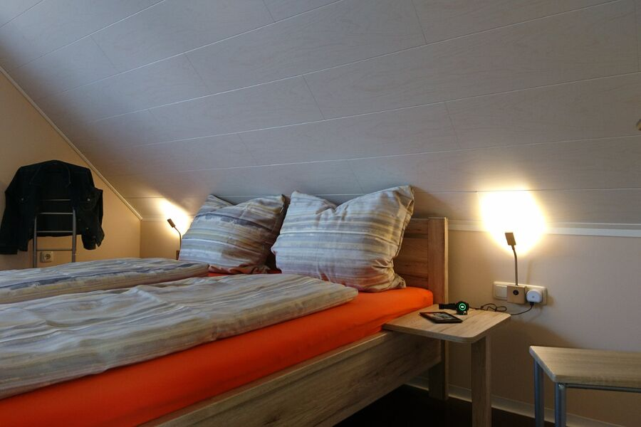 Schlafzimmer im Haus Brumbär