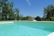 Aussicht vom Pool auf Motovun