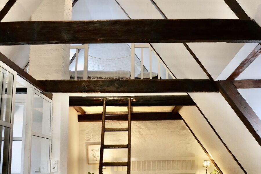 Luftiger Dachstuhl im Oberstübchen
