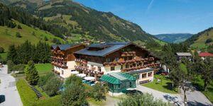 Hotel Alpina****, südseitiges Rauriser Urquellzimmer mit verglastem Bad in Rauris - kleines Detailbild