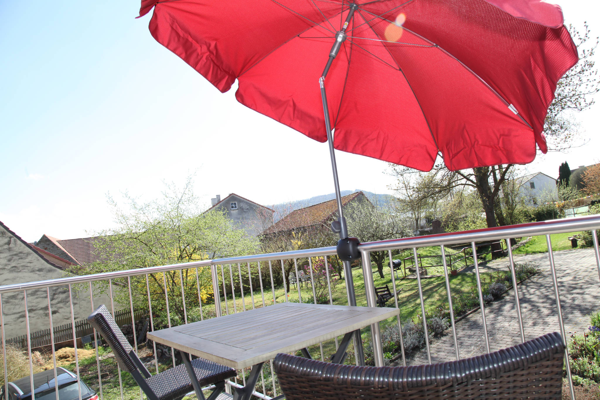 Ferienwohnung Tasch - Wohnung 2 mit Balkon und Schwanbergblick