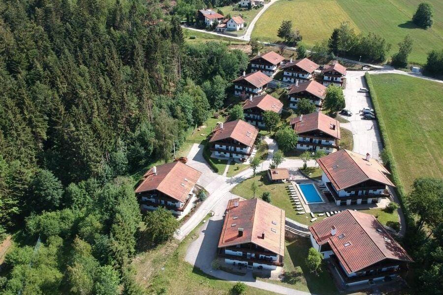 Luftaufnahme der Ferienanlage