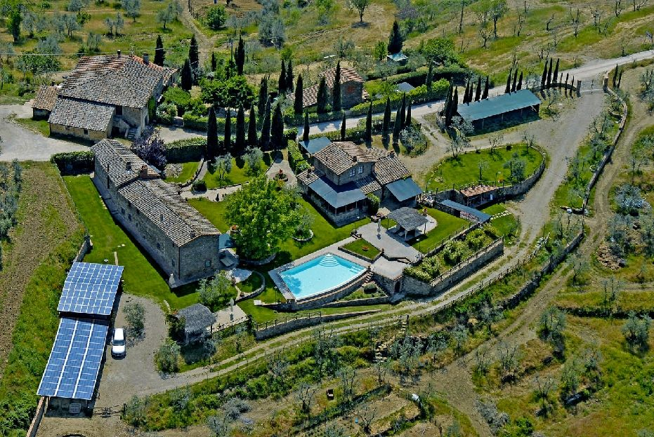 Luftbild, Fewo Nebenhaus rechts