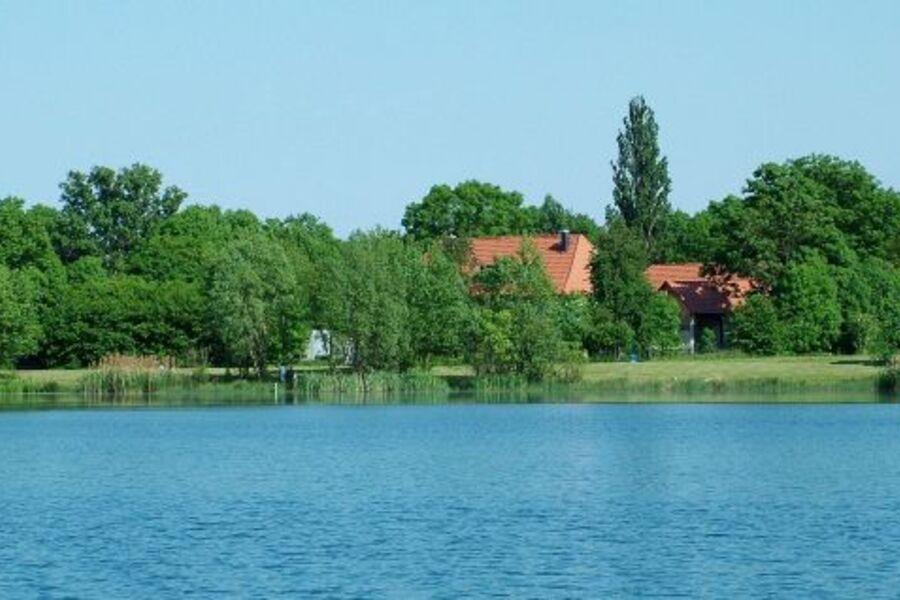 Blick vom See zur Geistmühle