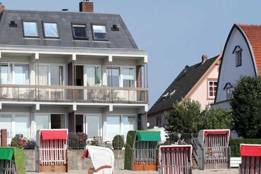 Ansicht des Hauses vom Strand aus