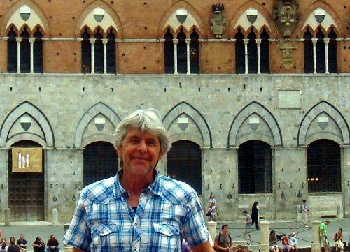 Gerd vor dem Palazzo Pubblico Siena